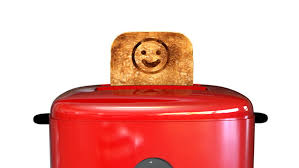 Toaster Face Red Toaster Pops Up With 2 Slices Of Toast With A Dollar Sign