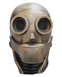 robot 1 0 automaton steampunk overhead latex mask halloween