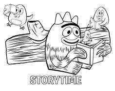 yo gabba gabba coloring coloring pages
