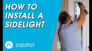 entry door glass insert replacement how to replace a door sidelight door glass insert youtube