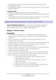 Sample Resume Maintenance by Download Maintenance Engineer Sample Resume Haadyaooverbayresort Com