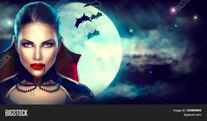halloween background vampire woman portrait beauty vampire