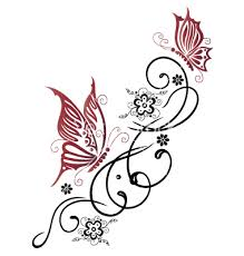 tribal flower butterfly style vector 1534755 by christine