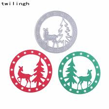 Cutting Dies For Card Making - christmas deer tree wreath cutting dies for painting diy