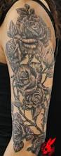 100 arm rose tattoo colorful photorealistic rose tattoo on