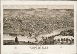 Colby College Campus Map Birds Eye View Of Waterville Kennebec Co Maine Digital