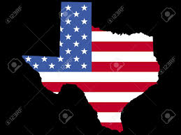 State Map Of Texas by Map Of The State Of Texas With American Flag Stock Photo Picture