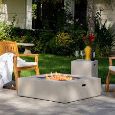 40 fire pit santos outdoor 40 inch square propane fire pit table w tank