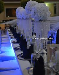 hanging crystals gorgeous wedding flower stand centerpiece with hanging