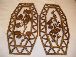 Home Interior Pictures Wall Decor 2 Homco Burwood Home Interior Rattan Wall Decor 7412 Ebay