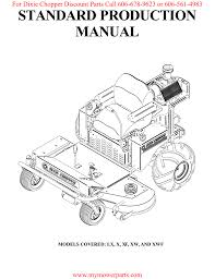 standard production manual for dixie chopper discount parts call