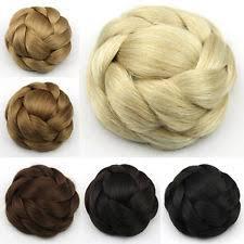hair bun clip bun clip in medium length hair extensions ebay