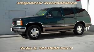 chevy yukon sold 1998 gmc yukon 4x4 sle at car barn in fruita co youtube