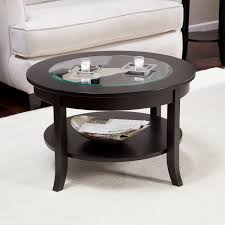 coffee table marvelous round wood coffee table glass and metal