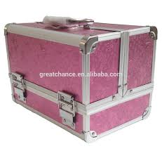 Vanity Case Beauty Studio Large Aluminium Rose Beauty Box Cosmetic Make Up Vanity Jewellery