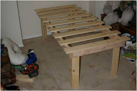 Platform Bed Frame Plans by Cheap Easy Low Waste Platform Bed Plans 7 Steps With Pictures