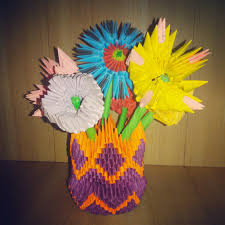 Origami 3d Flower Vase Madushi U0027s Crafts