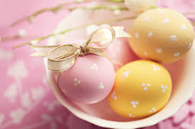 pink easter eggs pink and yellow easter eggs background gallery yopriceville