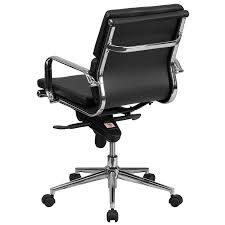 flash furniture bt 9895m bk gg mid back leather executive