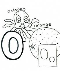 octopus and orange alphabet coloring pages alphabet coloring