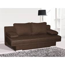 canap brun canapés en tissu canapé convertible moderne en tissu coloris br