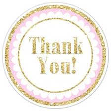 labels for party favors gold and pink thank you stickers gold glitter thank