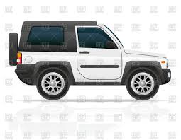 jeep vector off road vehicle 4x4 suv side view vector clipart image 45327
