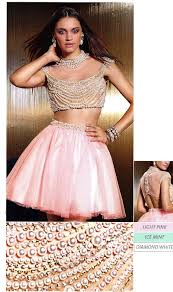 short two piece tulle pearl dress by claudine for alyce paris u003cbr