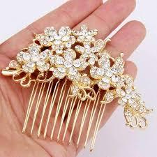 hair comb accessories rhinestone bridal hair comb gold wedding hair accessories tyale