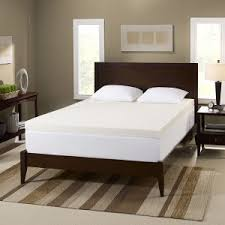 bedroom full size memory foam mattress with grey carpet and