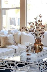 rose gold and gold living room accents froy blog