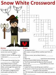 snow white crossword puzzles