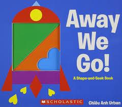 amazon com away we go a shape and seek book 9780545461795