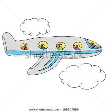 cute planes sky doodle style stock vector 661115797 shutterstock
