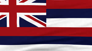 Image Of Hawaiian Flag National Flag Of Hawaii Flying And Waving On The Wind Sate Symbol