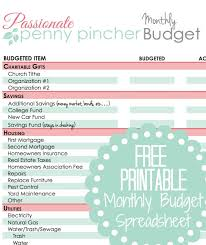 Free Printable Spreadsheet Free Printable Budget Spreadsheet Pincher