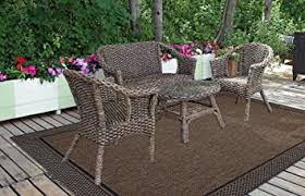 Modern Outdoor Rug Brown Prime Label Patio Furniture Rug 9x12