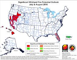 Alaska Fires Map by Wildfire Officials Predict Above Normal Fires In Idaho During Late