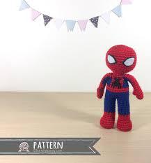 etsy crochet pattern amigurumi spiderman amigurumi crochet doll pattern
