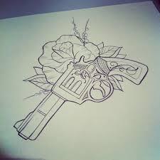 tattoo gun sketch by marita butcher i dont think i would get a gun tattoo but its