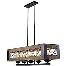 Linear Island Lighting Laluz Wood Kitchen Island Lighting 5 Light Pendant Lighting Linear