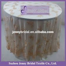 Lace Table Overlays Tl002r2 Jenny Bridal Round Champagne Lace Table Overlays Buy
