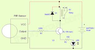 simple pir sensor circuit theorycircuit