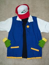 Funniest Mens Halloween Costumes Pokemon Cosplay Ash Ketchum Costume Men U0027s Small 4 Pc Etsy