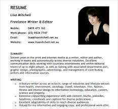 freelance resume template 10 writer resume templates free pdf word sles
