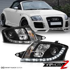 audi r8 headlights led light bar kit 1999 06 audi tt black projector headlight s r8