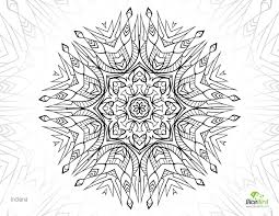 inddiana mandala flower free grown up coloring sheets