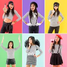 Tee Shirt Halloween Costumes All You Need Is This 1 Wardrobe Staple To Make 6 Easy Halloween