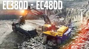 big d volvo volvo d series series crawler excavators launch video lrm youtube
