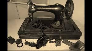 maquina antiga singer manivela youtube